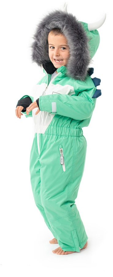 Dinoski Spike Ski Suit Kids' Insulated Snow Onesie, 3 - 4 Years Green