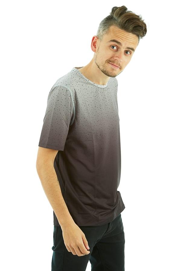 Wearcolour Raise Tee Men's Sports T-shirt, S Black Fade