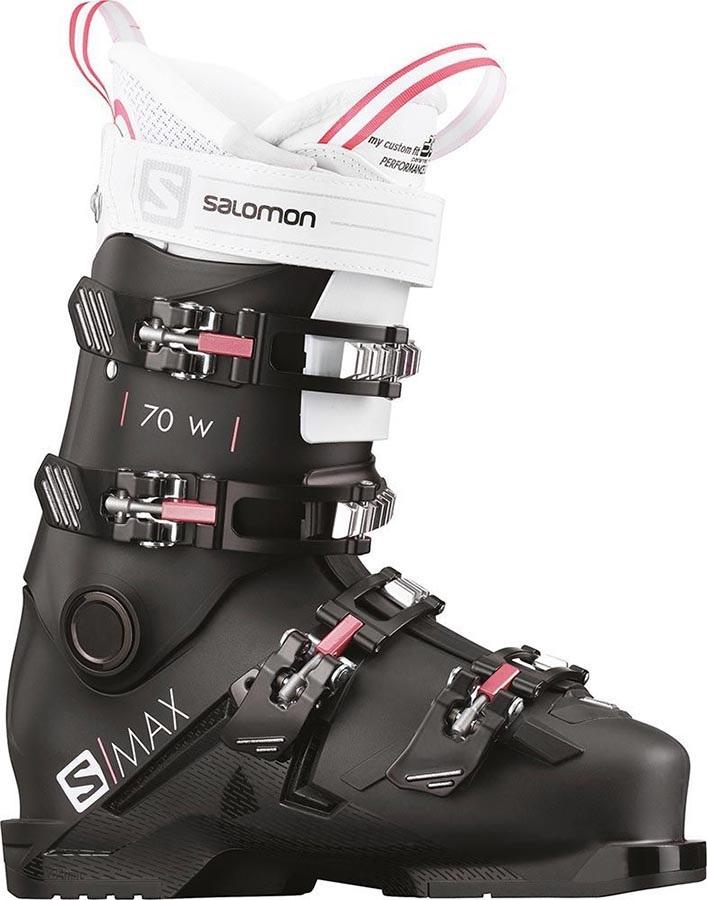 Salomon S/Max 70 W Women's Ski Boots, 24/24.5 Black/White/Pink 2020