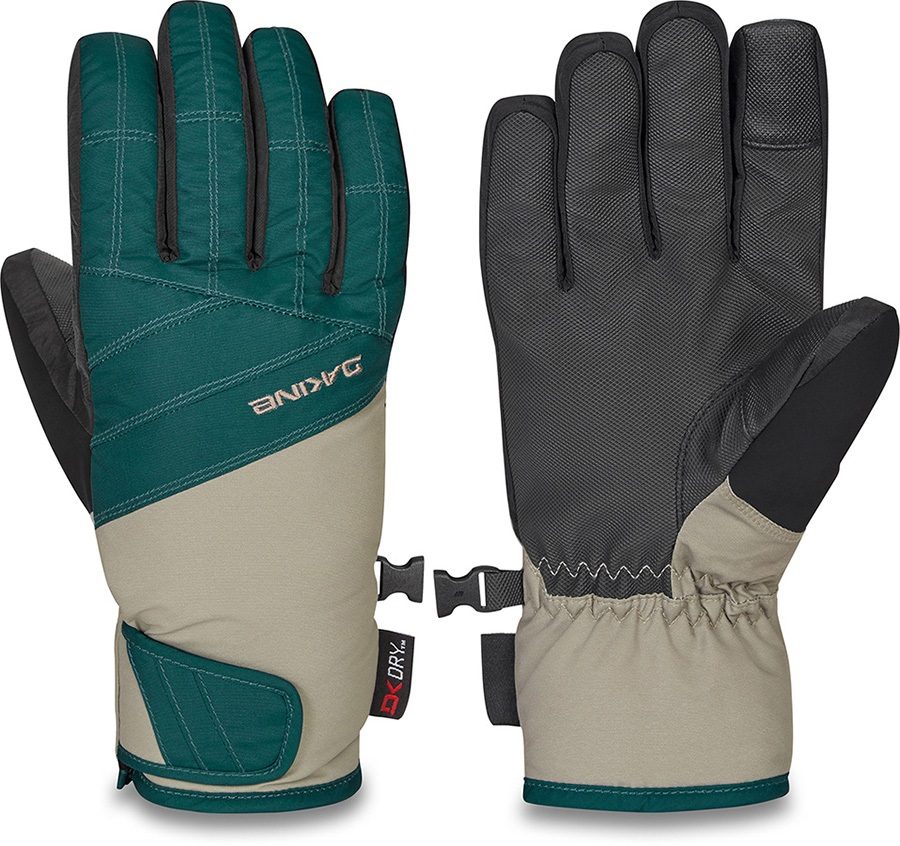 Dakine Sienna DK Dry Women's Ski/Snowboard Gloves, M Deep Teal/Stone