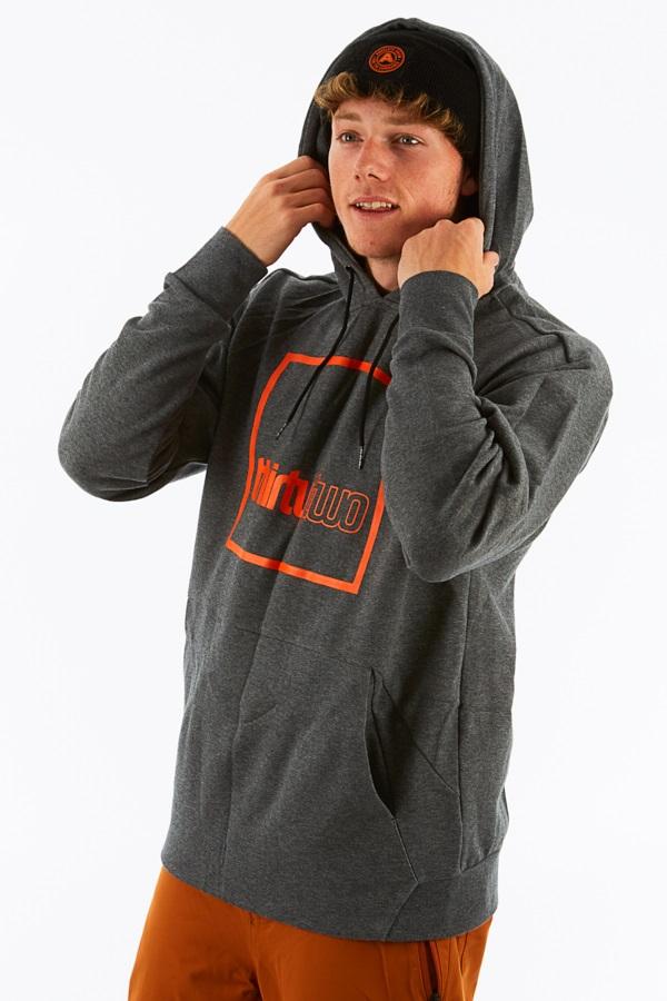 thirtytwo Boxer Pullover Ski/Snowboard Hoodie, S Grey Heather