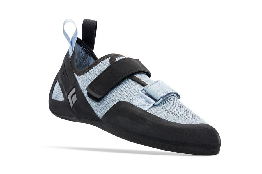 Black Diamond Momentum Velcro Rock Climbing Shoe - UK 12, Blue Ash
