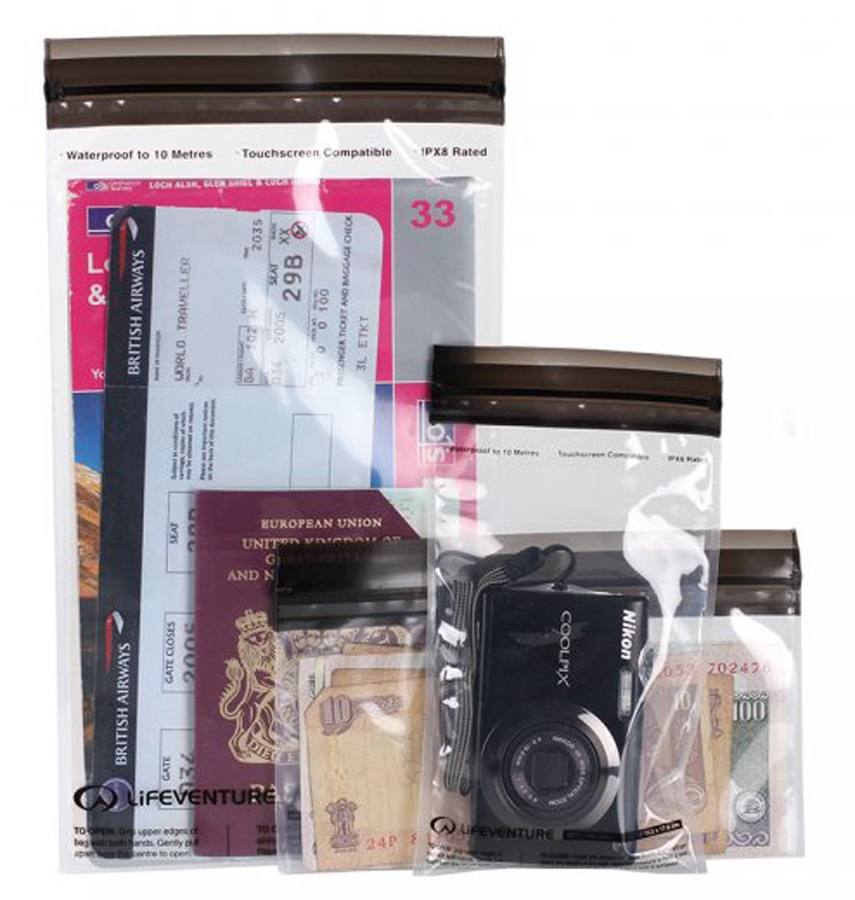 Lifeventure DriStore Waterproof Valuables Cases Travel Pouches, 3 Pack