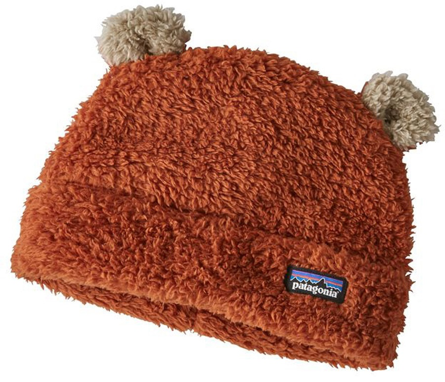 Patagonia Baby Furry Friends Hat Kids Hat, 12 Months Copper Ore