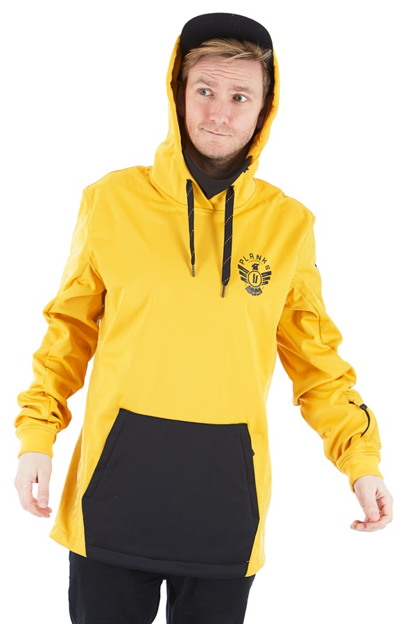 Planks Parkside Riding Hood Technical Hoodie, S Sunset Yellow
