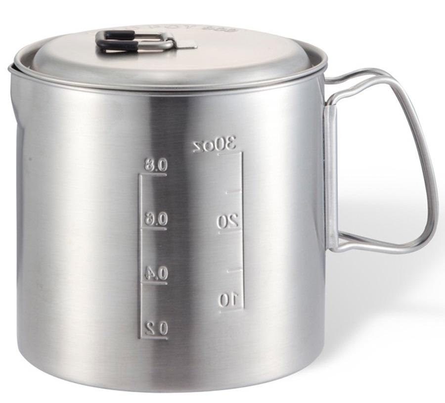 Solo Stove Pot 900 Compact Backpacking Cookware, 900ml Steel