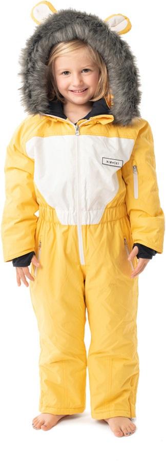 Dinoski Cub Ski Suit Kids' Insulated Snow Onesie, 4 - 5 Years Yellow