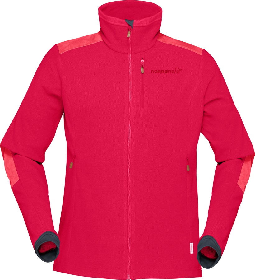 Norrona Svalbard Warm1 Jacket Women's Polartec Fleece, M Jester Red