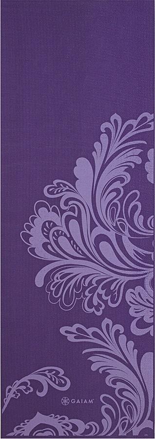 Gaiam Classic Printed Yoga Mat, 4mm Watercress