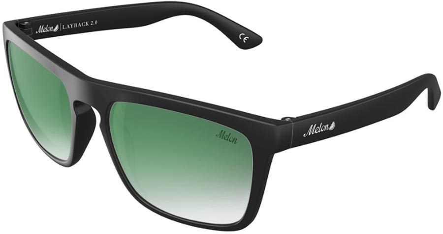 Melon Layback 2.0 Green Fade Polarized Sunglasses, Jade