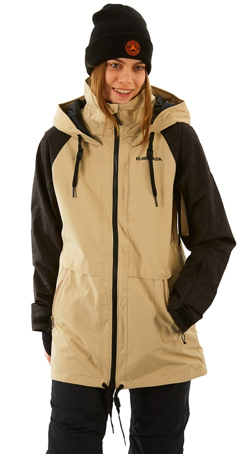 Armada Gypsum Women's Ski/Snowboard Jacket, XS Taupe