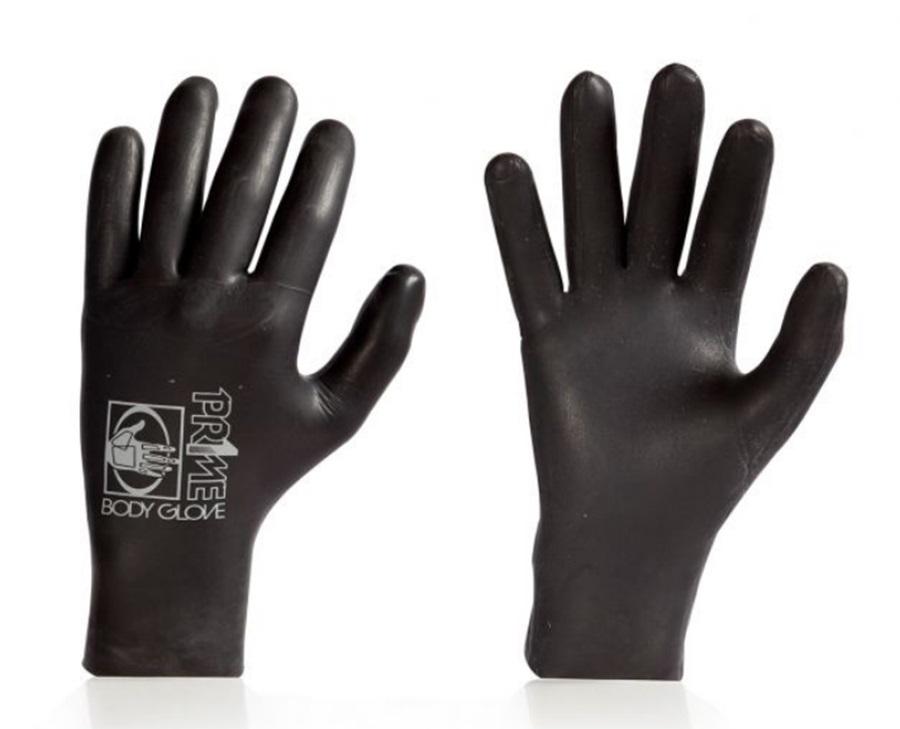 Body Glove Pr1me 3mm 5 Finger Wetsuit Gloves, Large Black
