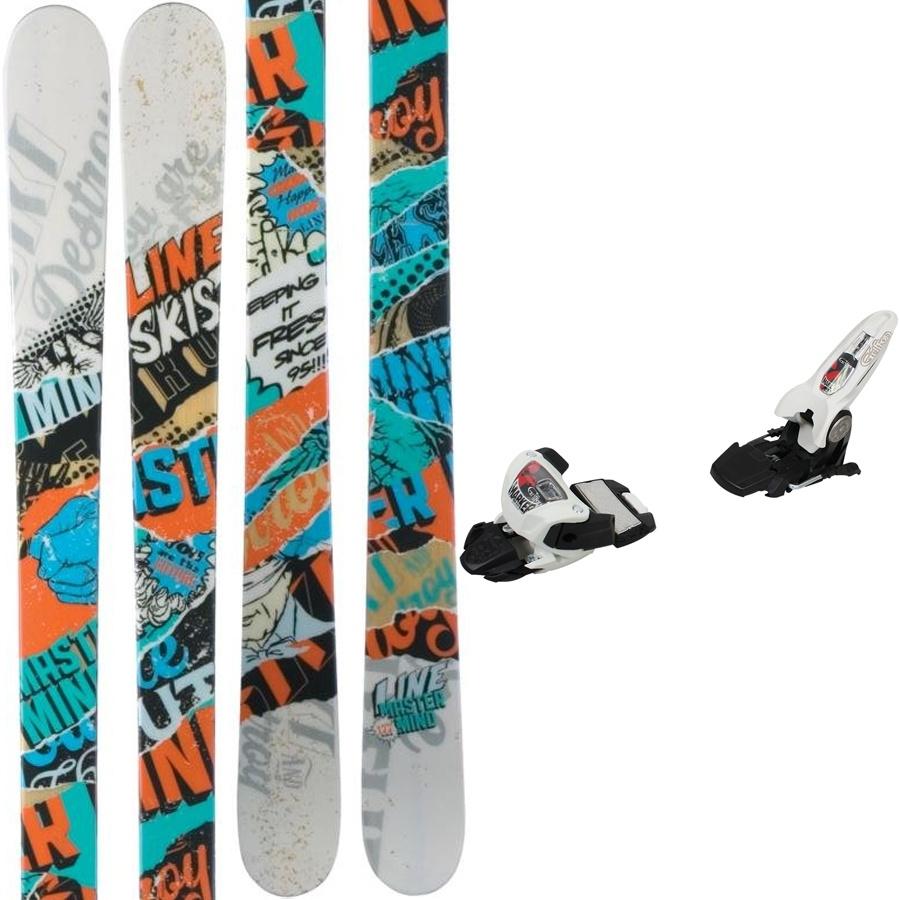 LINE Mastermind Skis, 177cm, Marker Griffon Bindings, 2012