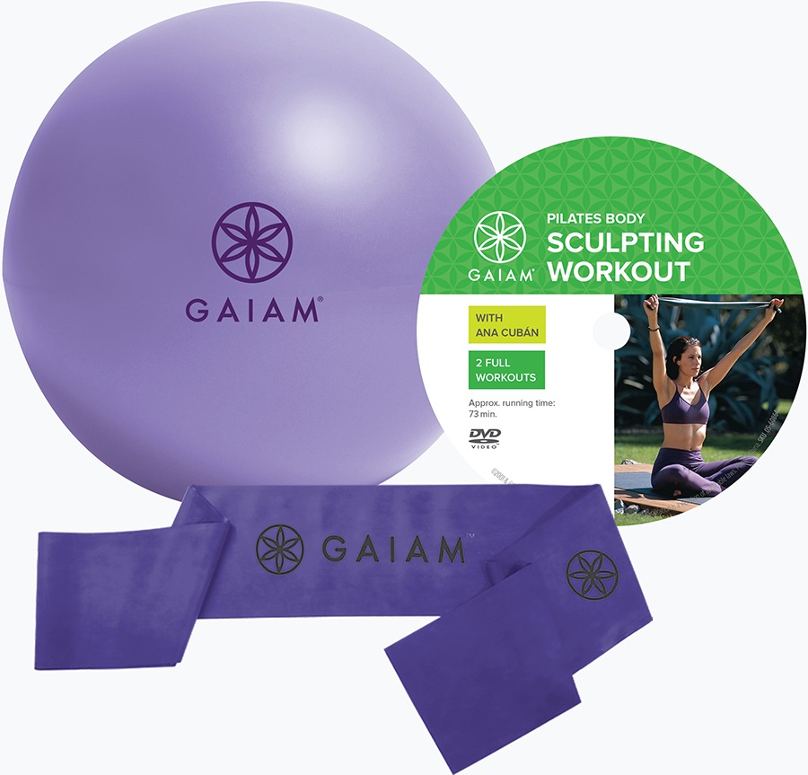 Gaiam Beginner's Pilates Kit, Purple