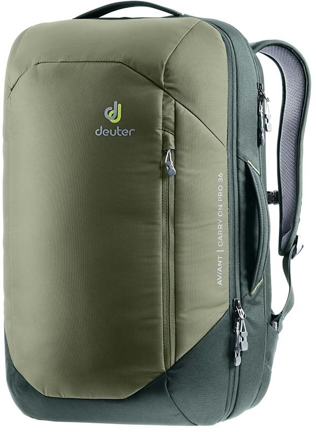 Deuter Aviant Carry On Pro 36 Travel Backpack, 36L Khaki/Ivy