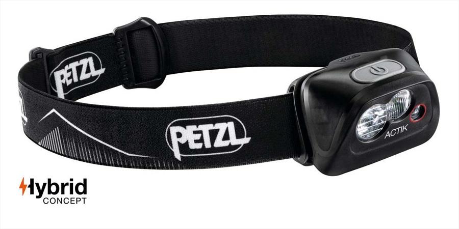 Petzl Actik Headlamp Headtorch, 350 Lumens Black