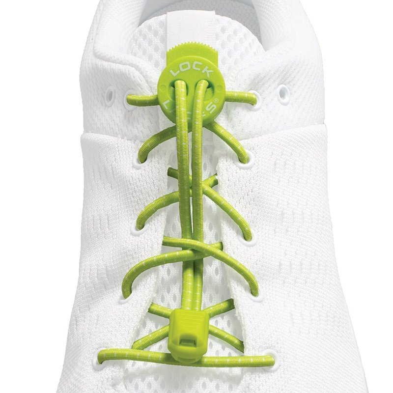 Lock Laces Adult Unisex No-Tie Replacement Shoelaces, One Size Green