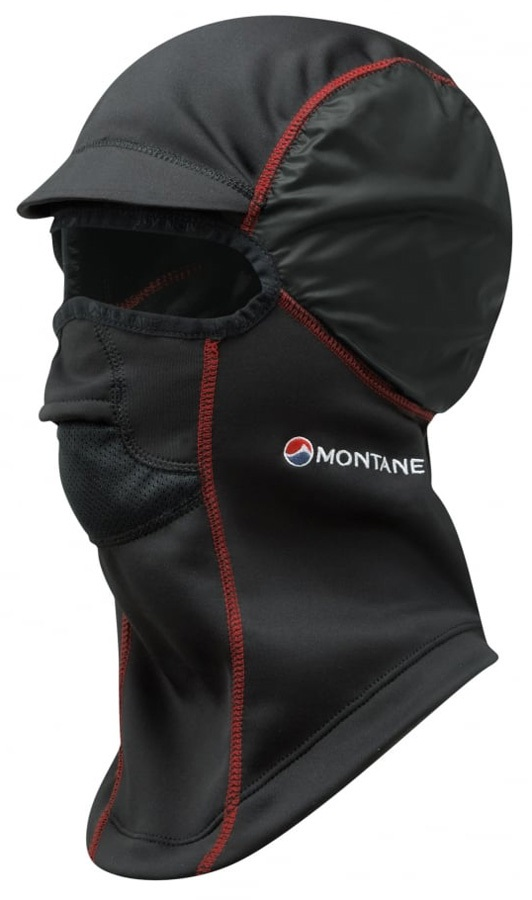 Montane Punk Pertex Facemask Windproof Fleece Balaclava, Black