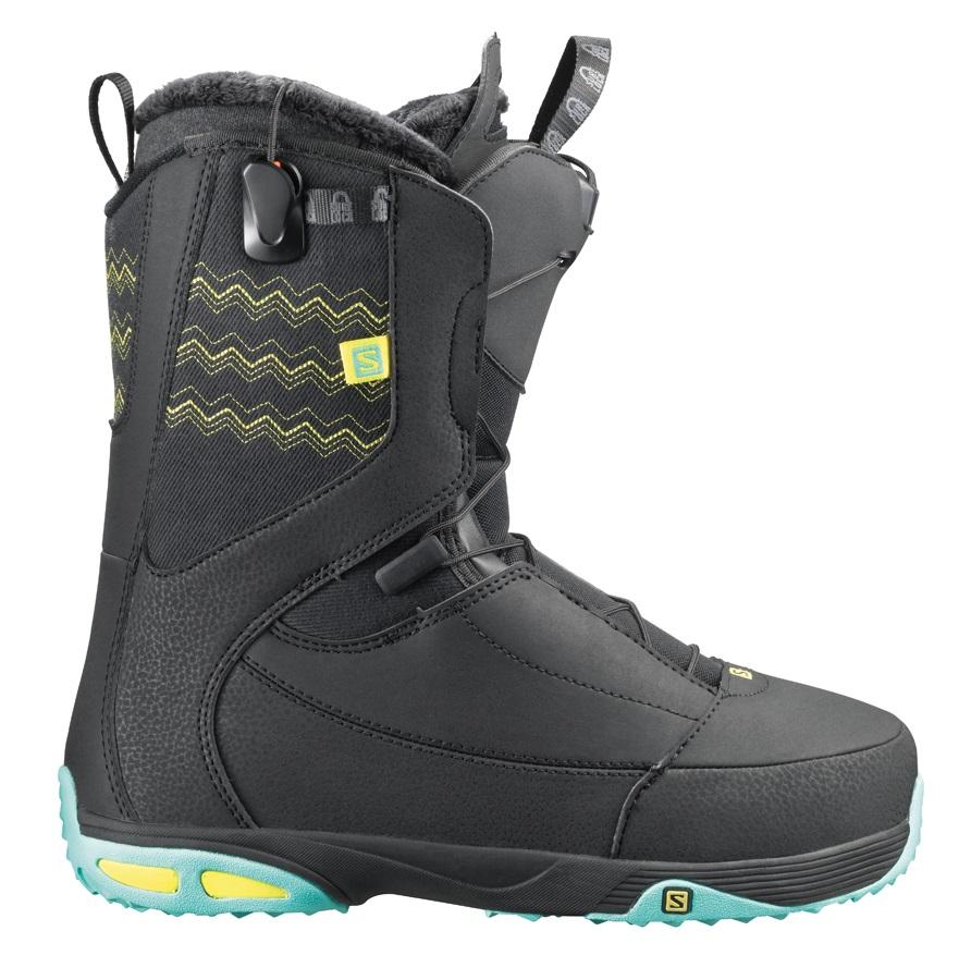 erilaisia värejä fantastinen säästö hinta alennettu Salomon Ivy Womens Snowboard Boots, UK 6.0, Black/Light Mint, 2014