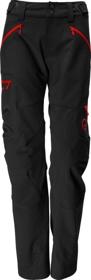 Norrona Svalbard Flex1 Pants Women's Hiking Trousers L Caviar/Red