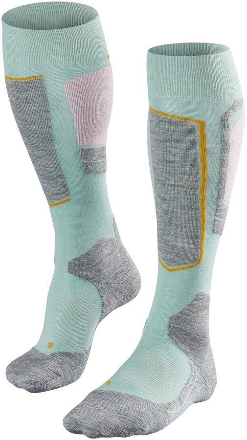 Falke SK4 Merino Wool Women's Ski Socks, UK 2.5-3.5 Austerity