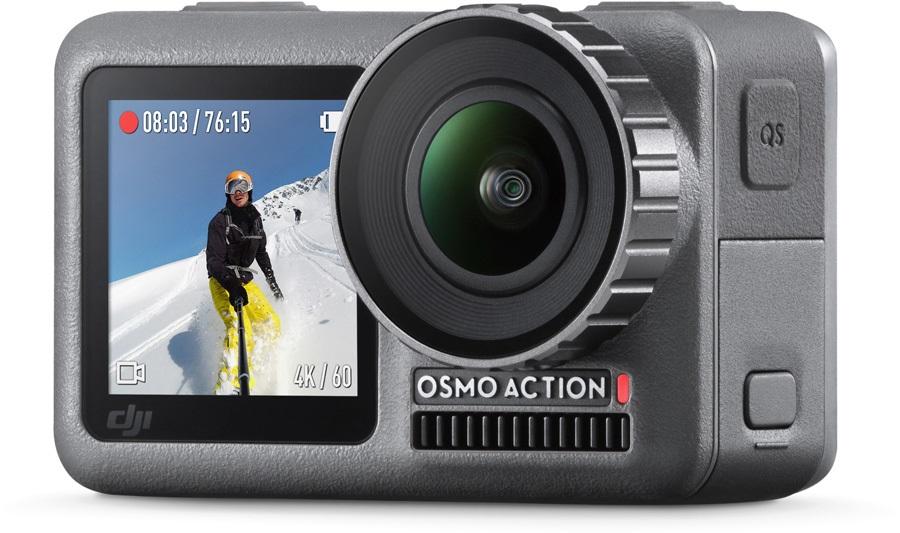 DJI OSMO Action Camera 11m Waterproof, Dual Screens - Image Stabilised