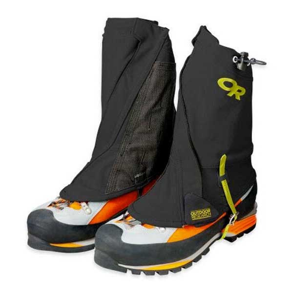 Outdoor Research Men's Endurance Gaiters, S/M, Black/Lemongrass