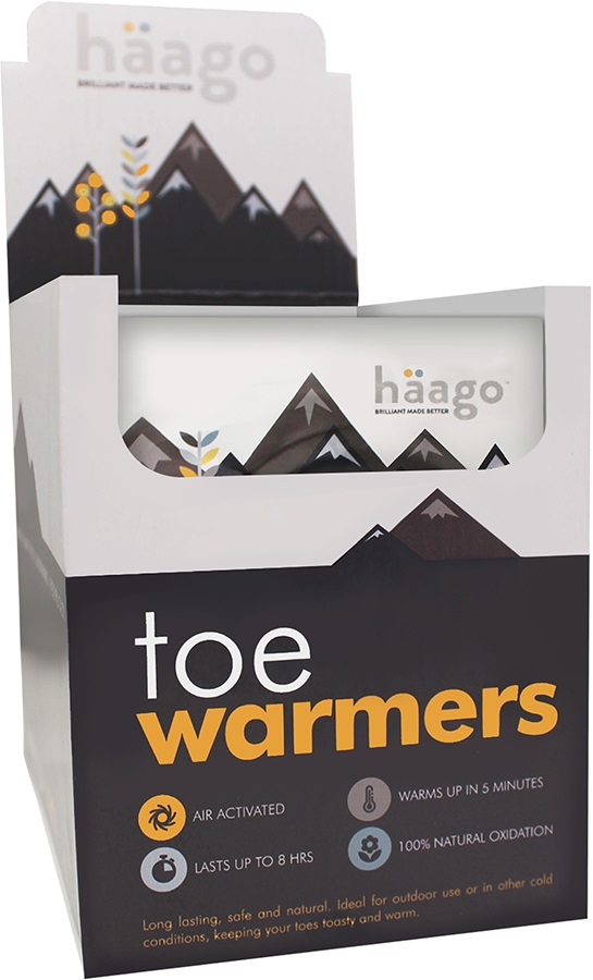 Haago Disposable Recyclable Toe Warmers, 20 Pairs
