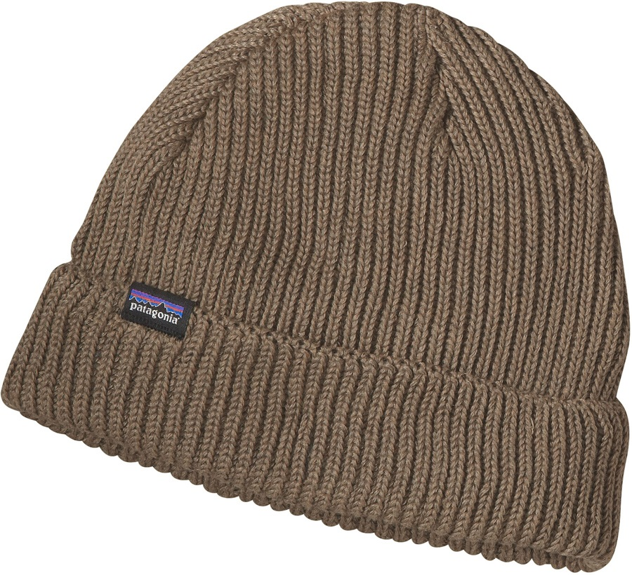 Patagonia Fisherman's Rolled Beanie Cuffed Beanie Hat OS Ash Tan