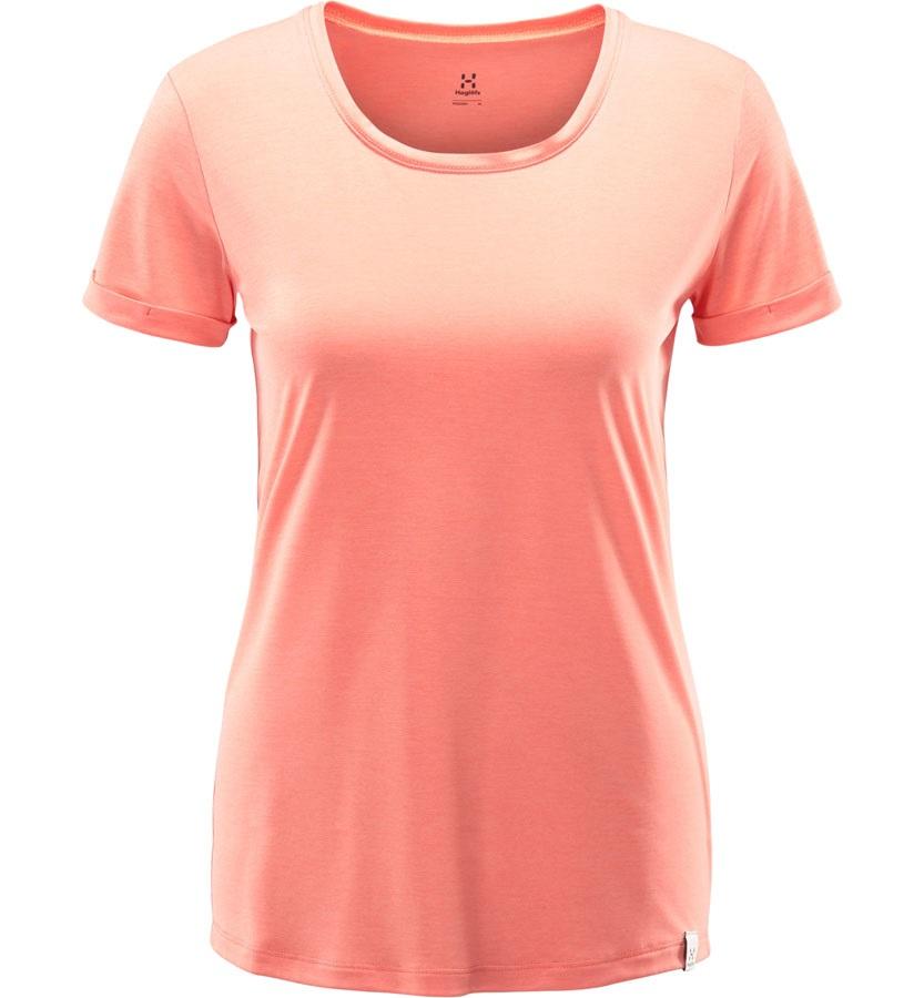 Haglofs Ridge Hike Women's Quick Drying T-Shirt, UK 12 Coral Pink