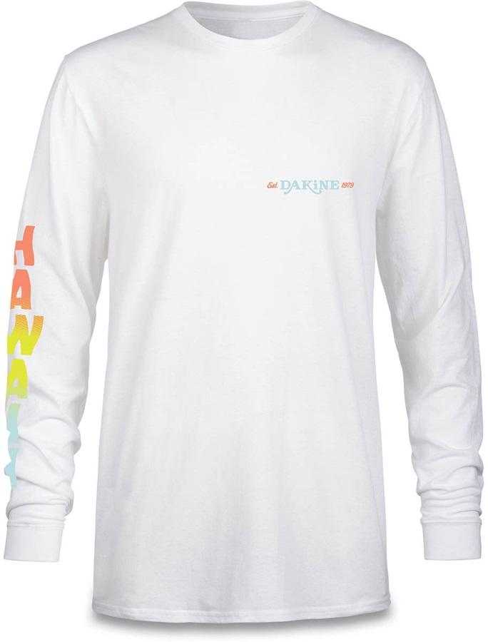 Dakine Later Gator Crew Long Sleeve Cotton T-Shirt, M White