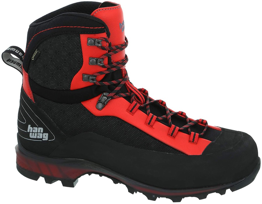 Hanwag Ferrata II GTX Hiking Boots, UK 9.5 Black/Red
