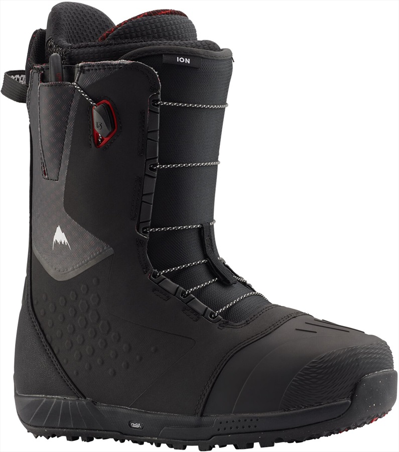 Burton Ion Men's Snowboard Boots, UK 8.5 Black/Red 2020