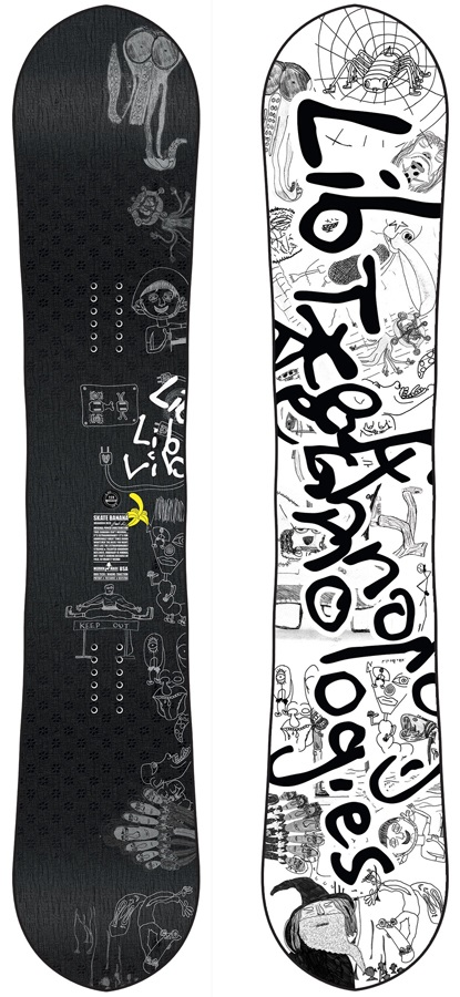 Lib Tech Skate Banana Reis Hybrid Camber Snowboard, 154cm 2020