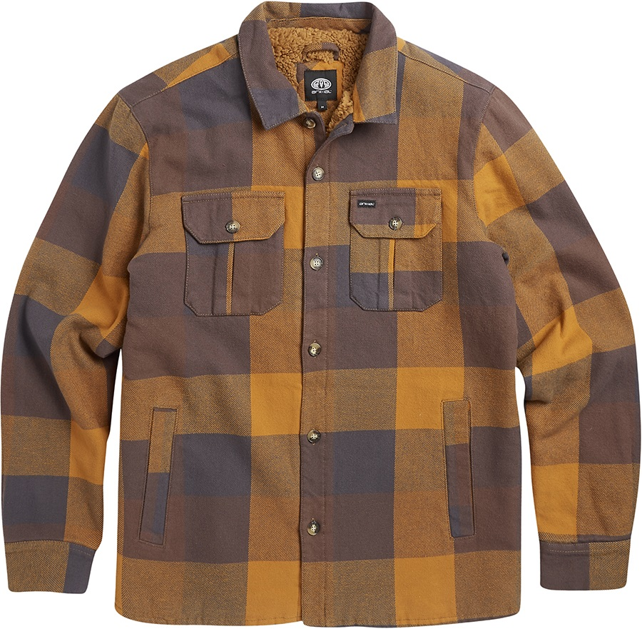 Animal Silverstoe Long Sleeve Flannel Shirt, S Coffee Brown