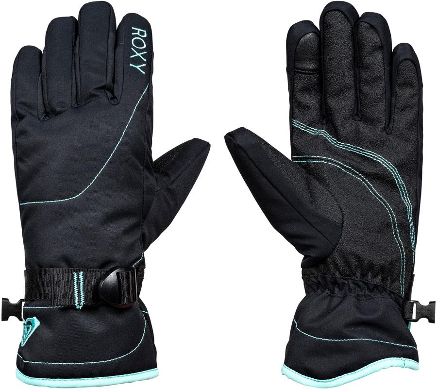 Roxy Jetty Solid Women's Snowboard/Ski Gloves, XL True Black