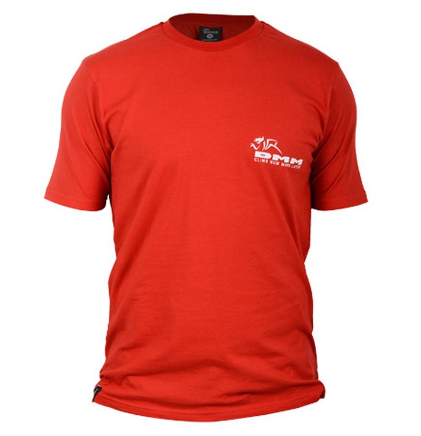 DMM Logo Climb Now Work Later Rock Climbing T-Shirt XL Red