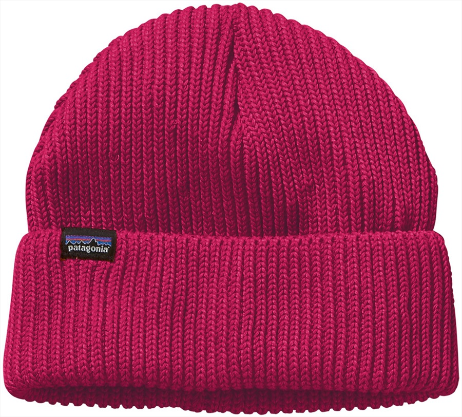 Patagonia Fisherman's Rolled Beanie Cuffed Beanie Hat, OS Craft Pink