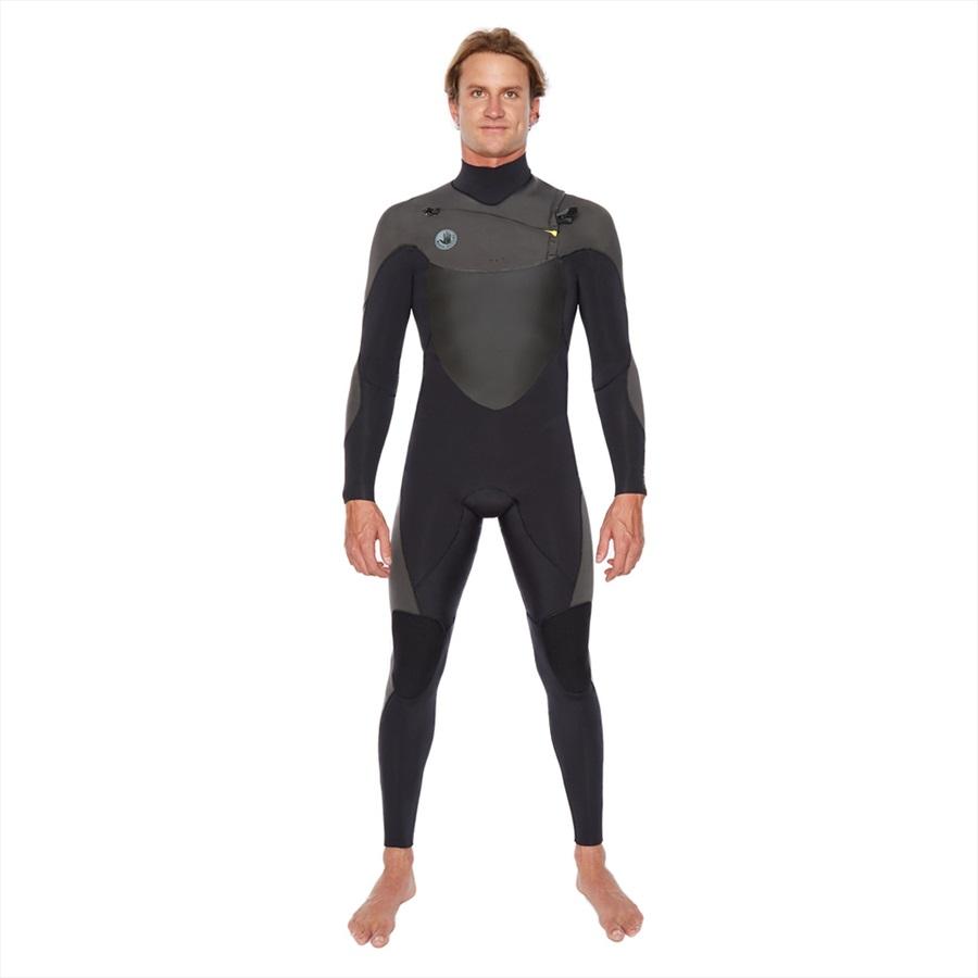 Body Glove Siroko 3/2 Slant Zip Full Surfing Wetsuit, XL Black