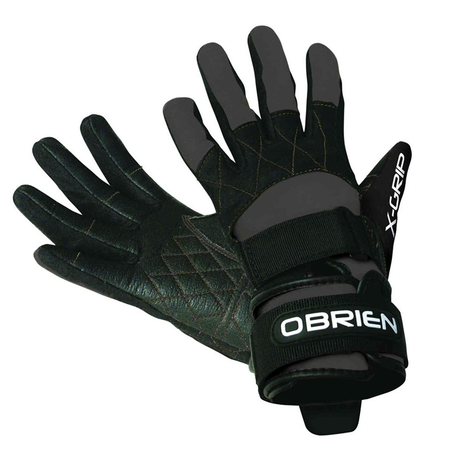 O'Brien Competitor X Grip Waterski Wakeboard Gloves, Large Black 2019