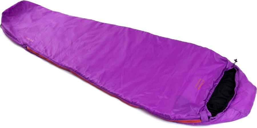 Snugpak Travelpak 3 Lightweight Sleeping Bag, Regular Violet LH Zip