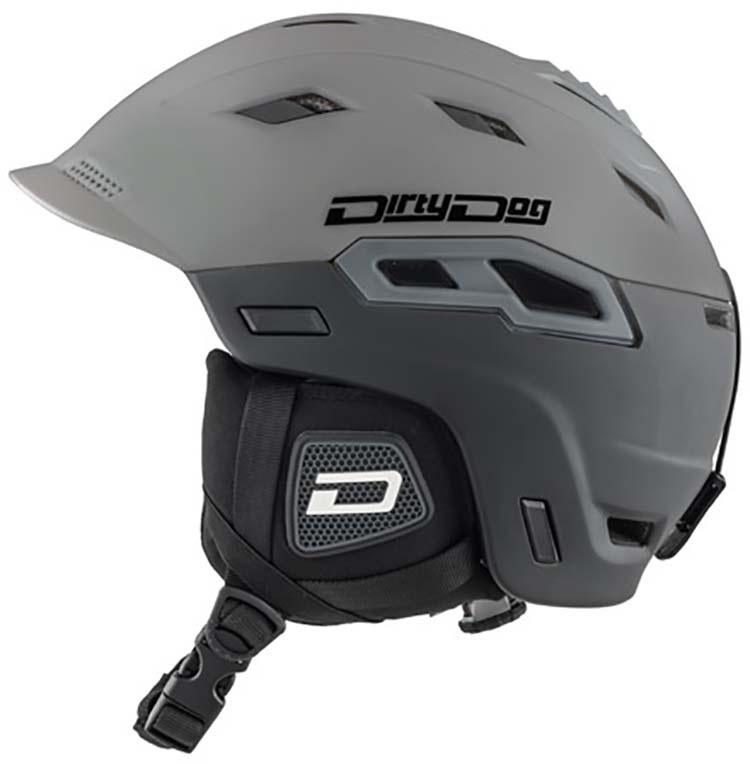 Dirty Dog Crater Snowboard/Ski Helmet, S Grey Black