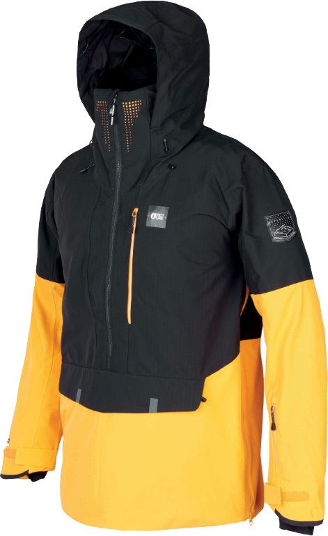 Picture Anton Ski/Snowboard Jacket, M Black Yellow