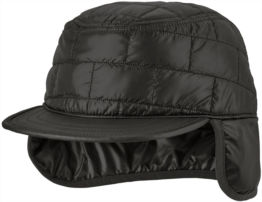 Patagonia Nano Puff Earflap Cap Insulated Winter Hat, S/M Black