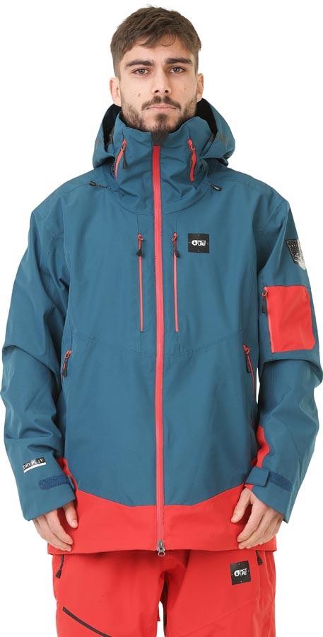 Picture Track Ski/Snowboard Jacket, L, Petrol Blue