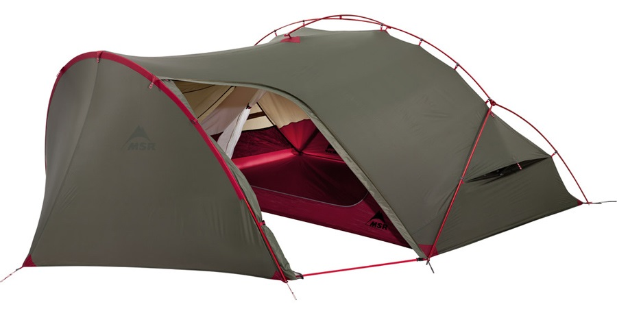 MSR Hubba Tour 2 Backpacking Tent, 2 Man Green