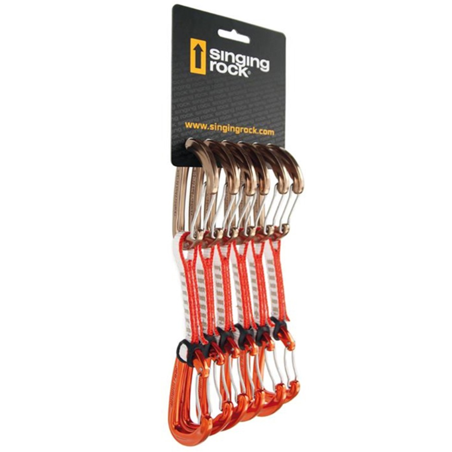 Singing Rock Vision 6Pack Rock Climbing Quickdraw Set, 6x11cm