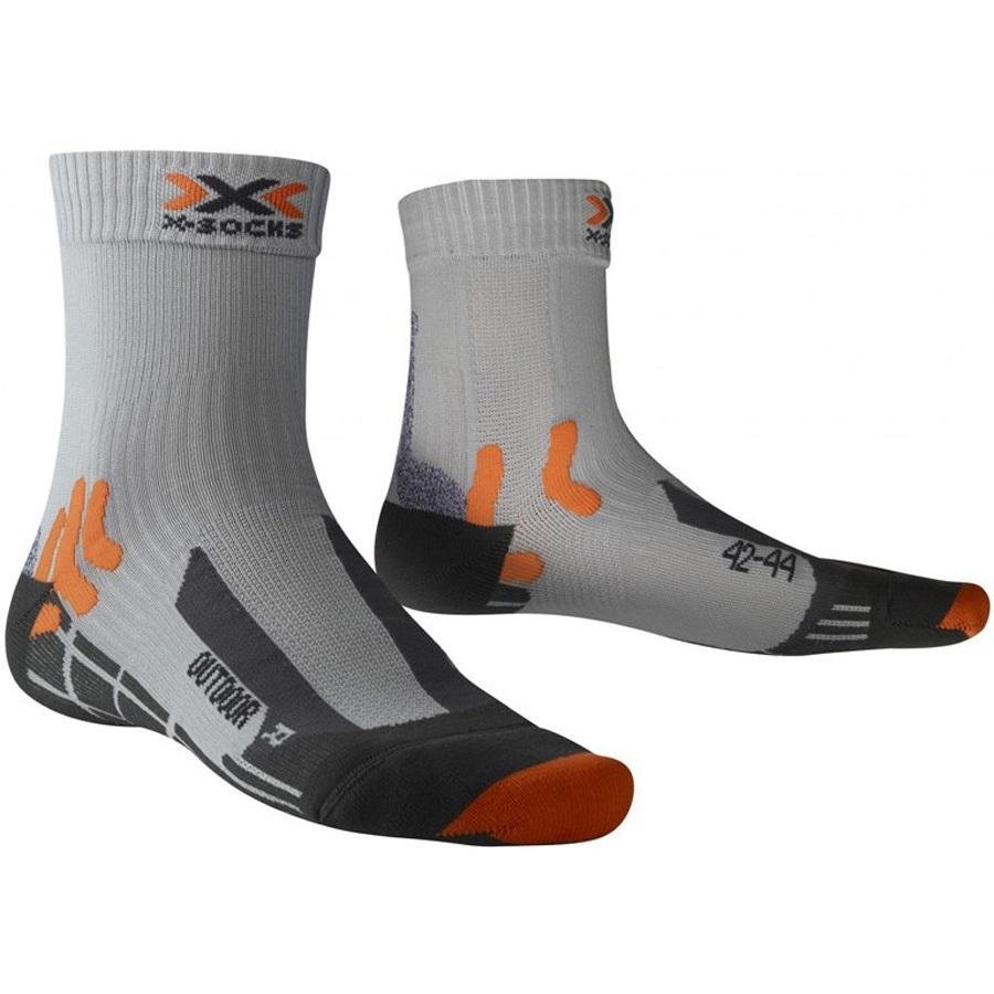 X-Bionic Trekking Outdoor Hiking/Walking Socks UK 6-7.5 Pearl Grey