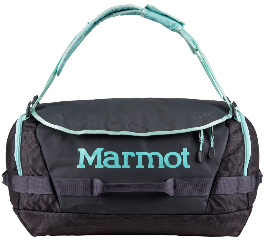 Marmot Long Hauler Duffel Travel Bag - 50L, Dark Charcoal / Blue Tint