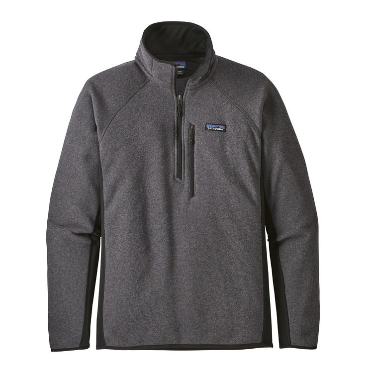 Patagonia Performance Better Sweater Fleece 1/4 Zip L Forge Grey/Black